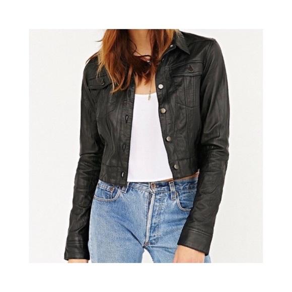 Lord & Taylor Jackets & Blazers - Vintage Leather Trucker Jacket 🖤
